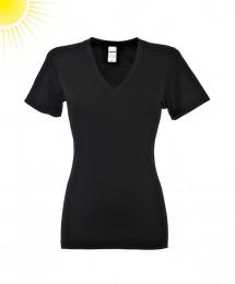 UV-beskyttelses T-shirt til damer sort