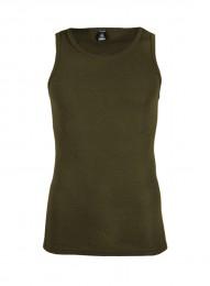 Trøje af merino uld til herrer army grøn