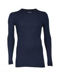 Herre uldtrøje - økologisk merino uld støvet blå