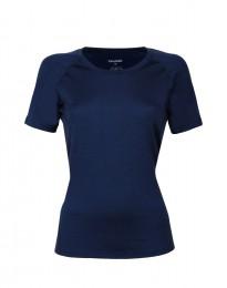 Merino T-shirt dame mørk blå