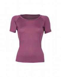 Merino t-shirt dame - eksklusiv merino uld støvet lilla
