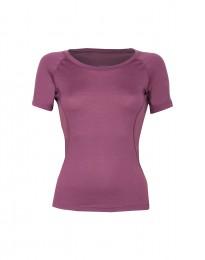 Blød dame t-shirt - eksklusiv merino uld støvet lilla