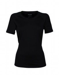 Merino t-shirt dame sort