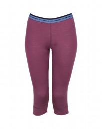 ¾ leggings dame - eksklusiv merino uld støvet lilla