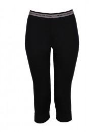 ¾ Leggings til kvinder - eksklusiv merino uld sort