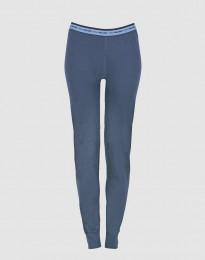 Leggings dame - eksklusiv merino uld mørk blå