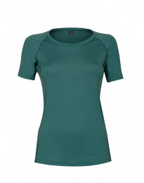 Merino t-shirt dame - eksklusiv merino uld turkis grøn