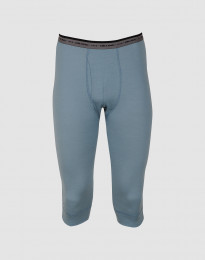¾ leggings mænd - eksklusiv merino uld mineral blå