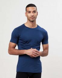 Merino t-shirt herre mørk blå