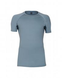 Merino t-shirt herre - eksklusiv merino uld mineral blå