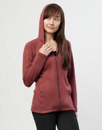 Hættetrøje i uldfrotté med lommer rouge