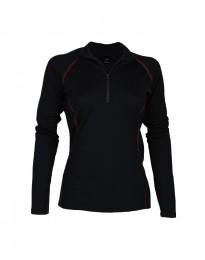 Skiundertrøje løbeundertrøje til kvinder - eksklusiv merinould sort