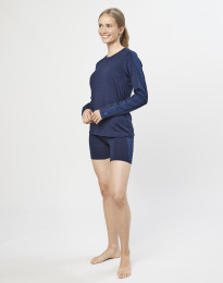 Uldshorts til damer - økologisk eksklusiv merino uld mørk blå