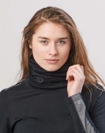 Halsedisse til dame i økologisk eksklusiv merino uld sort