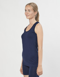 Tank top til dame i økologisk eksklusiv merino uld navy
