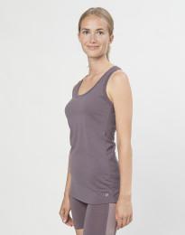 Tank top til dame i økologisk eksklusiv merino uld lavendel grå