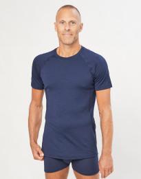 T-shirt herre - økologisk eksklusiv merino uld Navy