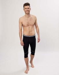 Korte leggings til herre - økologisk eksklusiv merino uld Sort