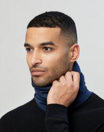 Halsedisse til mænd i økologisk eksklusiv merino uld mørk blå