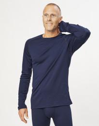 Herretrøje i økologisk eksklusiv merino uld Navy