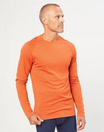 Herretrøje i økologisk eksklusiv merino uld Brændt orange