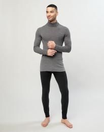Lange underbukser til mænd i merino uld/silke sort