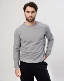 Sweatshirt til herre i bomuld gråmelange