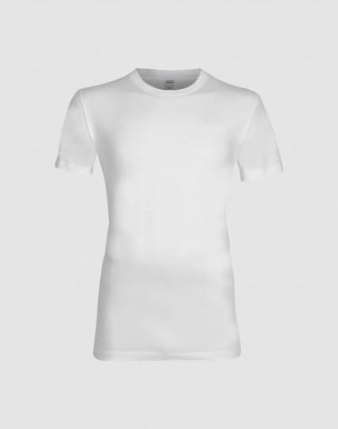Bomulds t-shirt til mænd hvid