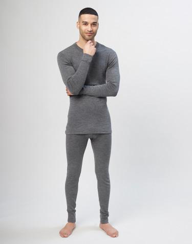 Merino uldleggings til mænd - grå