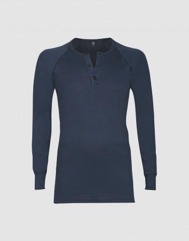 Premium Classic - Langærmet t-shirt mænd bomuld mørk blå