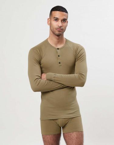 Premium bomuld langærmet T-shirt til mænd