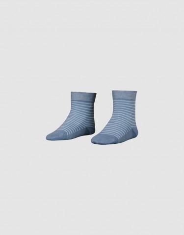 Børnestrømper - økologisk merino uld støvet blå