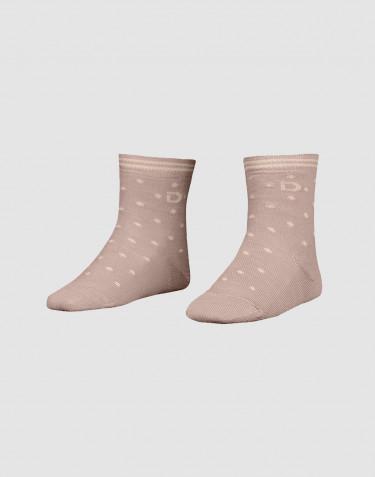 Børnestrømper - økologisk merino uld støvet rosa