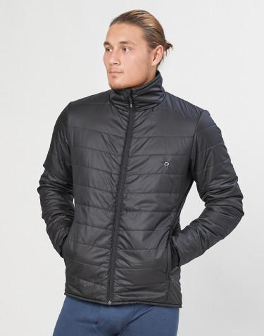 Outer-Layer jakke med lynlås til herre - genanvendt polyester/merino uld sort