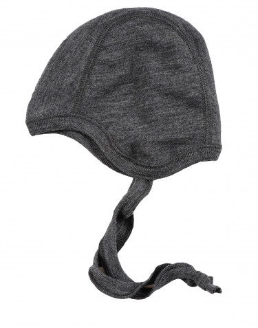 Baby hue - økologisk merino uld gråmelange