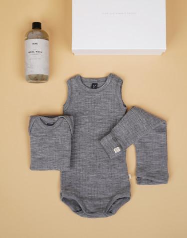 Babypakke grå str. 68