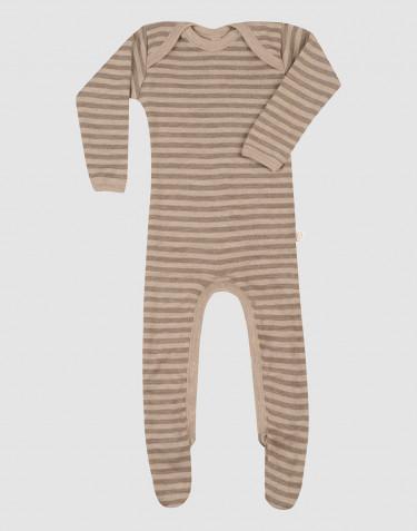 Merinould heldragt m/ fødder til baby