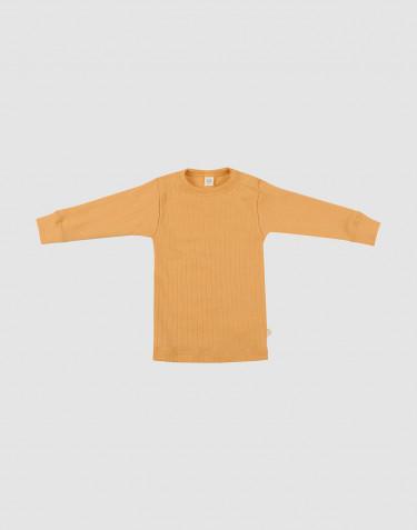 Merino trøje i bred rib til baby gul