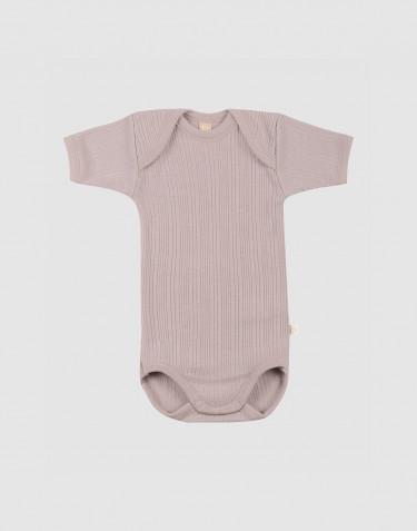 Merinould kortærmet body til baby
