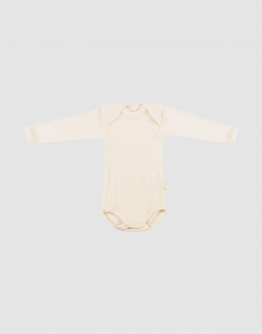 Merinould body med lange ærmer til baby
