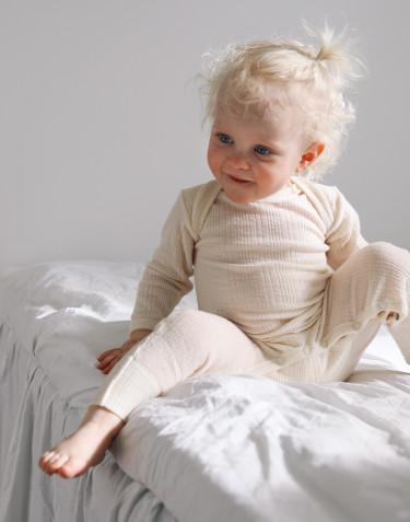 Merinouldheldragt til baby