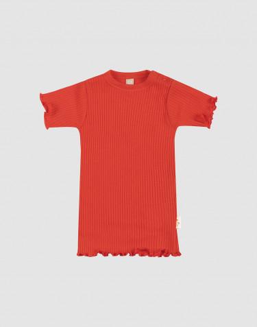 Merinould T-shirt med bølgekanter