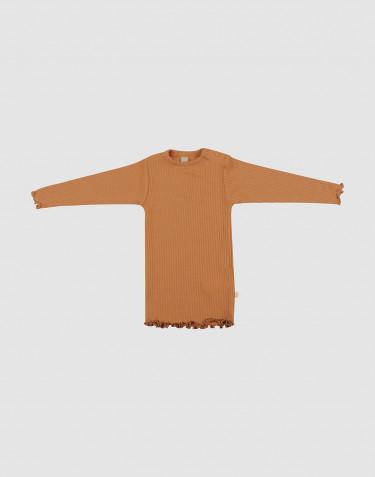 Merino trøje med bølge kanter til baby Karamel