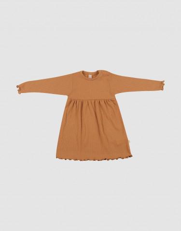 Merino kjole med bølgekanter til baby Karamel