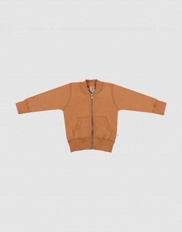 Baby jakke i uldfrotté karamel