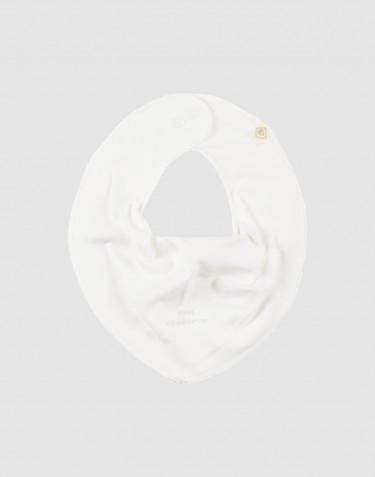 Baby savlesmæk i økologisk bomuld Hvid