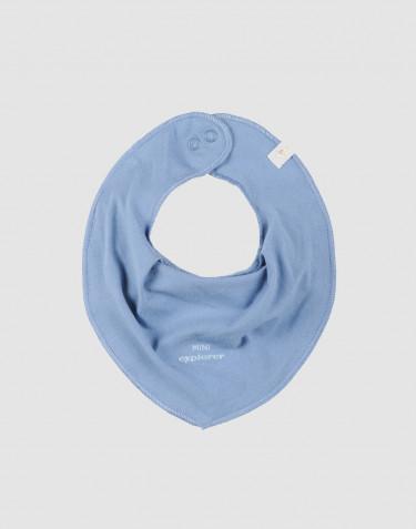 Baby savlesmæk i økologisk bomuld blå