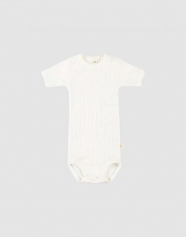 Kortærmet baby body i økologisk bomuld Hvid