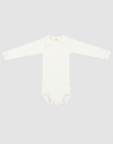 Langærmet baby body i økologisk bomuld Hvid
