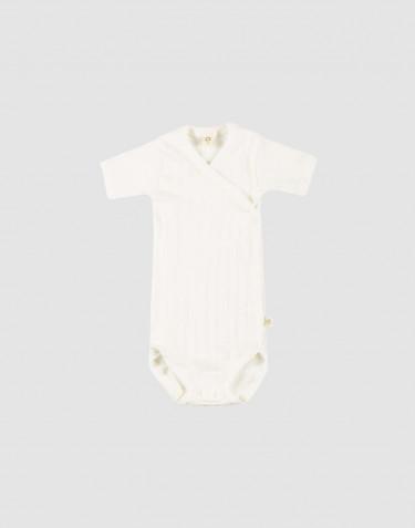 Slå-om body i økologisk bomuld til baby Hvid